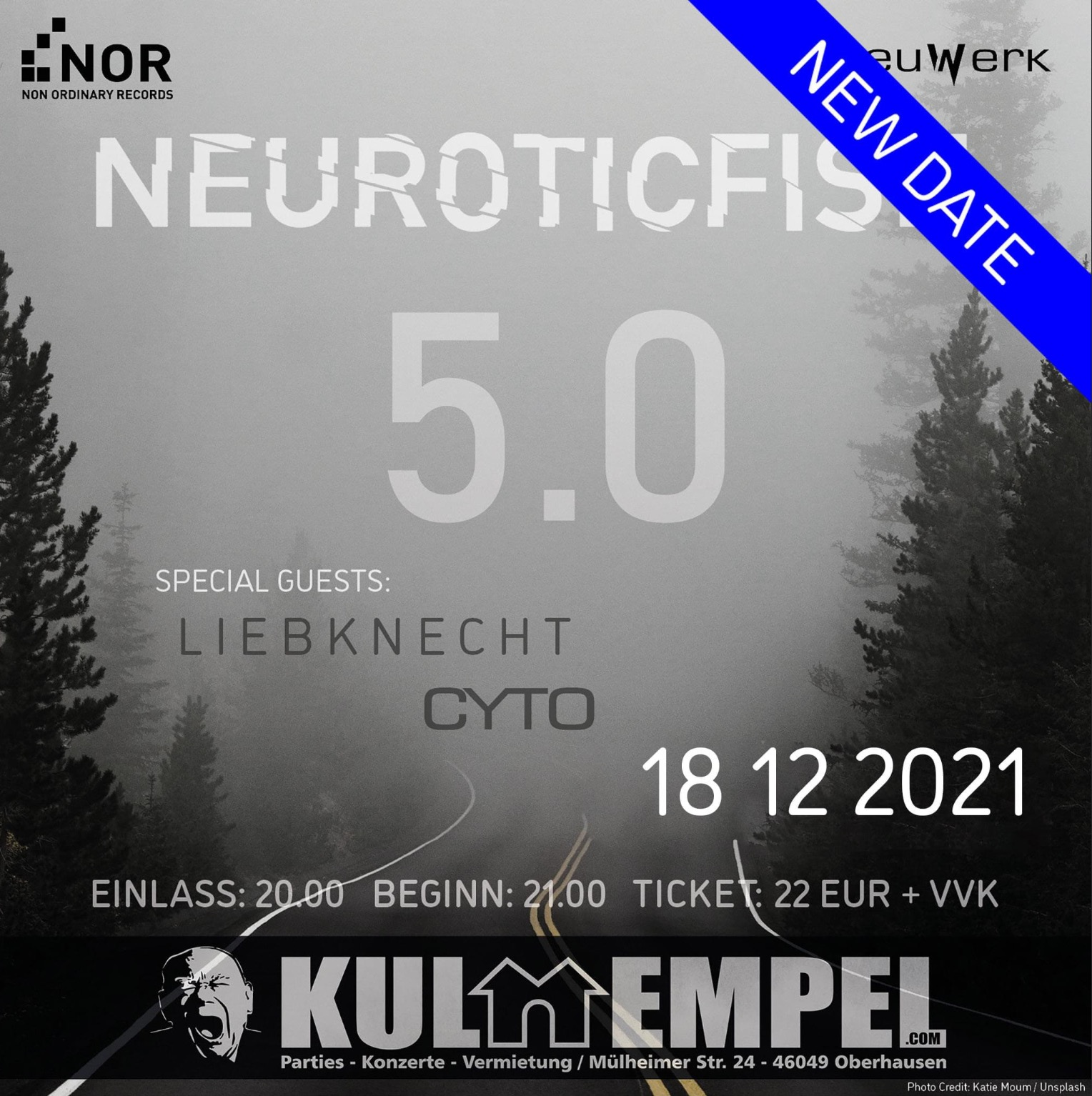 Heimspiel 5.0 Neurotic Fish + Liebknecht + Cyto - postponed!!!